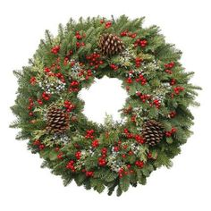 Wreath, Berry Christmas - Wholesale Flowers for weddings and events – Wholesale Florist – Floral, Floral Supply, Flower Distributor Viking Christmas, Christmas 24, Christmas Wreaths, Fresh Wreath, Berry Wreath, Merry Berry, Christmas Plants, Wholesale Florist, Floral Supplies