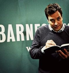 Jimmy Fallon is a gift to nerdy women. That stare, though...