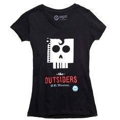 "The Outsiders book cover t-shirt... Might need this one. ""Stay golden, Ponyboy."""
