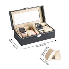 MULTI-FUNCTIONAL SHOWCASE: 4 watch slots with removable velvet pillows which can make room for other accessories, such as necklaces, bracelets, cufflinks, earrings, brooches and other jewelry. LARGE REAL GLASS LID: Real glass lid keeps your watches from dust, and offers you an open view of the displayed watches #watch_box #Watch_Box_Organizer #Best_watch_box #Leather_Watch_Box #Watch_Storage_Box #Best_Watch_Box_India #Watch_Box_for_Men Slot, Hanging Purses, Watch Storage Box, Leather Watch Box, Purse Organization, Retail Shop, Velvet Pillows, Necklaces, Bracelets