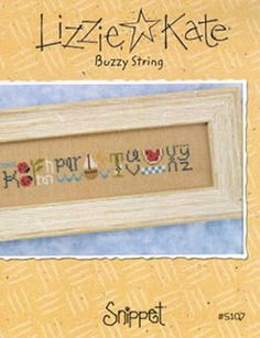 Lizzie Kate Snippet Buzzy String counted cross stitch pattern