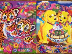 Lisa Frank! Coloring and Activity Books with stickers #LisaFrank #Valentine'sgiftforkids