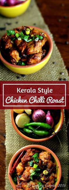 Kerala Style Chicken Chilli Roast. This Kerala Style Chicken Chilli roast made with three different chilli peppers in it, definitely has a kick to it, that all spice lovers will love!