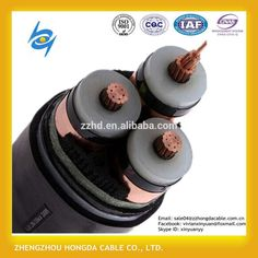66kv 3*185mm2 Copper Wire Conductor Copper Tape Armoured Xlpe Cable ...
