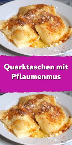Quark bag with plum jam - the gingerbread crumbs and the sugar . - Quark bag with plum jam – the gingerbread crumbs and the sugar … – jam bag - French Toast Receta, Savoury French Toast, Creme Brulee French Toast, Healthy French Toast, Banana French Toast, Make French Toast, Cinnamon French Toast, No Calorie Foods, Low Calorie Recipes