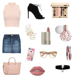 """👍🏻👍🏻👍🏻"" by nelly-cassie on Polyvore featuring Frame, WearAll, Yves Saint Laurent, BP., Ilia, L'Oréal Paris, Casetify, Wildfox and Lime Crime"