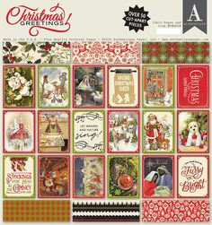 Authentique Paper - Christmas Greetings Collection - 12 x 12 Paper Pad