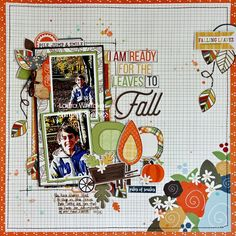 Layout from creative team member Laura Whitaker using the Hello Fall collection