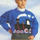 Train Motif Childrens Sweater 2~8 years Thomas Fans! Aran Knitting Pattern