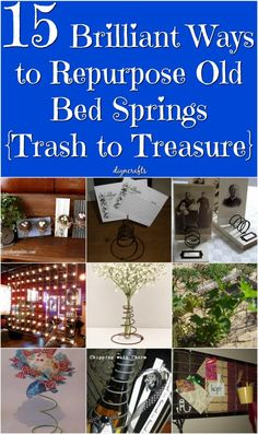 You've certainly heard that one man's junk is another man's treasure. Well, with this collection, I've virtually proven it. I found 15 different ways that you can use old bed springs, and these are easy projects that look amazing when completed. via @vanessacrafting