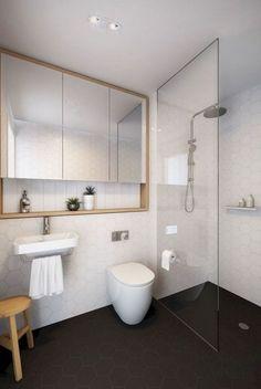 95 Amazing Small Bathroom Remodel Ideas - Page 15 of 100 Small Bathroom Layout, Modern Bathroom, Master Bathroom, Bathroom Mirrors, Bathroom Cabinets, Restroom Cabinets, Small Bathroom Sinks, Washroom, Beautiful Bathrooms