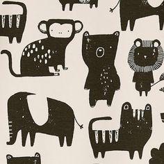 print & pattern Kids Patterns, Pretty Patterns, Jungle Animals, Baby Animals, Sketchbook Inspiration, Kids Prints, Illustration Art, Illustrations, Kids Playing