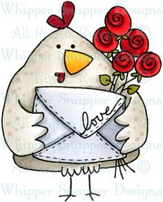 Whipper Snapper Designs is an expansive online store selling a large variety of unique rubber stamp designs. Chicken Crafts, Chicken Art, Animal Drawings, Art Drawings, Chicken Painting, Envelope Art, Pet Chickens, Watercolor Cards, Whimsical Art