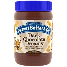 PEANUT BUTTER & CO: Dark Chocolate Dreams Peanut Butter Blended with Rich Dark Chocalate, 16 oz