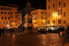 Campo De' Fiori in Rome has amazing food and vendors! This is where we had our first meal in Rome . . . sitting right there!!