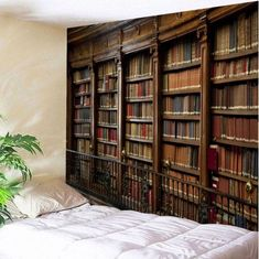 UHUSE Vintage Library Bookshelf Tapestry Wall Hanging College Study Room Tapestry Retro Bookshelf Wall Art Wall Tapestries for Bedroom Dorm Inspire Me Home Decor, Decoration Ikea, Dorm Decorations, Vintage Wall Art, Vintage Walls, Retro Home Decor, Home Wall Decor, Reproductions Murales, Blanket On Wall
