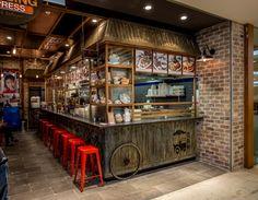 Petaling Street Express Restaurant by Envision Design, Sydney – Australia Thai Restaurant, Vietnam Restaurant, Restaurant Streets, Hotel Restaurant, Restaurant Concept, Design Café, Kiosk Design, Design Blog, Cafe Design