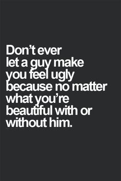 Don't ever...