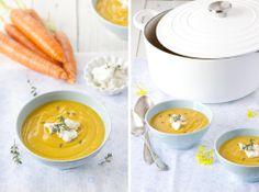 Los Tragaldabas: Crema de zanahoria y queso feta