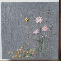[분당 야생화자수]야생화자수 - 가을 야생화 갈대, 쑥부쟁이, 산국 액자 : 네이버 블로그 Diy Embroidery Patterns, Embroidery On Kurtis, Hand Embroidery Flowers, Embroidery Stitches Tutorial, Creative Embroidery, Silk Ribbon Embroidery, Kurti Embroidery Design, Embroidery Applique, Cross Stitch Embroidery