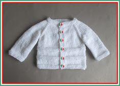 ROMA ~ Baby Cardigan Jacket (marianna's lazy daisy days) häkeln – Crochet models Baby Cardigan Knitting Pattern Free, Baby Boy Knitting Patterns, Baby Sweater Patterns, Knitted Baby Cardigan, Knit Baby Sweaters, Baby Patterns, Free Knitting, Baby Pullover Muster, Jackets