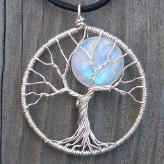 Stunning extraordinary Moon Tree by Ellen Thurmond, new look of traditional Tree of Life pendant.