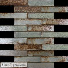 """Lava Mosaics 1"""" x 6"""" - Zanzibar Brick Mosaic By SouthCypress.com $20.49"""