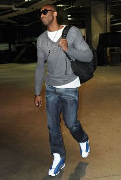Kobe Bryant - I don't know if he has a stylist but whenever I see Kobe in non-uniform clothes, I am impressed with his style.