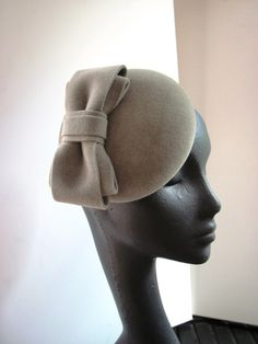 Cocktail Hat Velour with Art Deco Inspired Bow BY MIND YOUR BONCE  #millinery #hats #HatAcademy