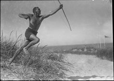 Young man on beach by Sven Türk. The Royal Library, Denmark, via Flickr