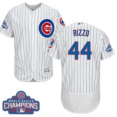 cubs 44 anthony rizzo white flexbase authentic collection 2016 world series champions stitched mlb j
