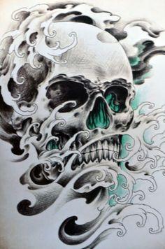Sketch of tattoo - skull Skull Tattoo Design, Skull Design, Skull Tattoos, Body Art Tattoos, Sleeve Tattoos, Tattoo Designs, Tattoo Sketches, Tattoo Drawings, Tattoo Caveira
