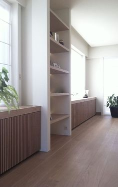 New living room lighting wood window Ideas House Design, Room Design, Living Room White, Industrial Decor Living Room, White House Interior, Minimalist Living Room, Industrial Livingroom, Trendy Living Rooms, Contemporary Radiators