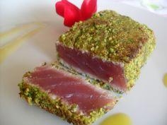 Bonny Vita recipes of Pistachio Tuna Fillets My Recipes, Italian Recipes, Healthy Recipes, Italian Truffles, Ceviche, Fish And Seafood, Finger Foods, Sushi, Nice
