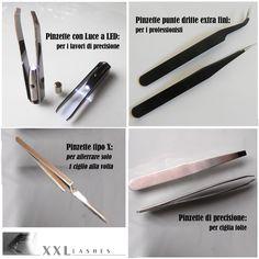 Le #pinzette non sono tutte uguali.. Scopri quella che fa al caso tuo: http://www.xxllashes.com/it/Strumenti-extension-ciglia