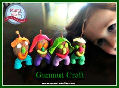 how to make gumnuts clay