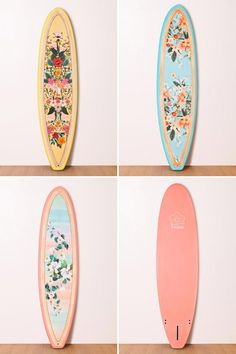 patterned surf board
