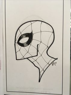 Quick Spidey headsketch Spiderman Sketches, Spiderman Drawing, Drawing Superheroes, Marvel Drawings, Spiderman Art, Art Drawings Sketches Simple, Pencil Art Drawings, Easy Drawings, Sketch Tattoo Design