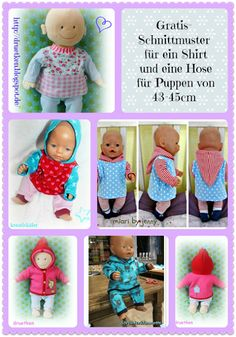 luni & druetken: My Christmas present for you . a free pattern! Doll Sewing Patterns, Sewing Dolls, Doll Clothes Patterns, Sewing Tutorials, Sewing Projects, Clothing Patterns, Sewing For Kids, Baby Sewing, Free Sewing