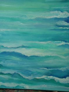 Seascape Original painting Ocean ART 16 x 20 by SharonFosterArt, $100.00