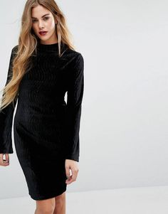 Buy First & I Velvet High Neck Column Dress at ASOS. With free delivery and return options (Ts&Cs apply), online shopping has never been so easy. Get the latest trends with ASOS now. Column Dress, Asos Maternity, Basic Tops, Best Brand, New Look, Fashion Online, Latest Trends, Bell Sleeves, Fashion Dresses