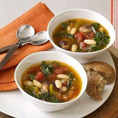 I made this with escarole instead of chard, so simple and delish! Will make it again and again! AK Easy one-pot meal: Sausage and Chard Soup. To make it healthier substitute chicken or turkey sausage.