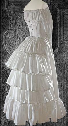 Bustle dress undergarments. I like this silhouette. https://www.pinterest.com/pin/458030224581923629/
