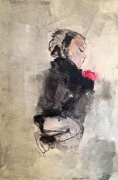 Aurélie Mantillet, Série  « Les Gisants »,  Tendre est la Nuit – acrylique sur toile, 2013 ©