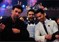 #RanbirKapoor, #ShahidKapoor and #VarunDhawan having a great time..