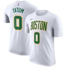 93d05a79e35 NBA gear · Men s Boston Celtics Jayson Tatum Nike White 2018 19 City Edition  Name  amp  Number