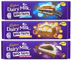 Cadbury has launched three new enormous chocolate bars