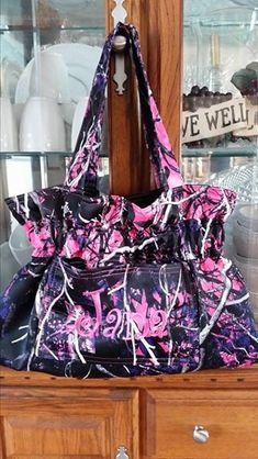 Muddy Girl Camo bag made and embroidered by me