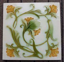 """Original early English Art Nouveau tile , c1902 6""""x6""""Tile"""