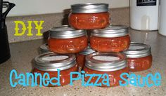 Keeping Up With The Pruetts: Canning Pizza Sauce. Uses frozen tomatoes so the skin slips off and then cooks in a crock